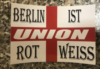 """Aufkleber """"Rot Weiss"""""""